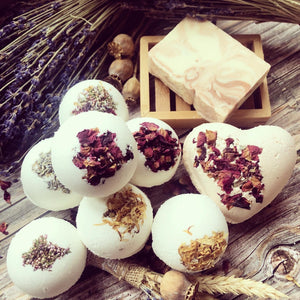 Botanical Bath Bombs - various sized packets. - Mad About Nature