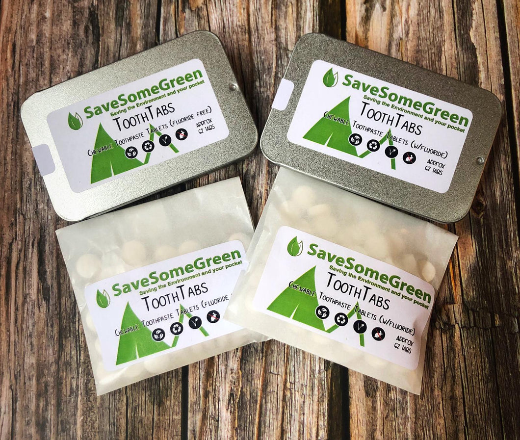 Natural Plastic Free Tooth Tabs (62 in Pack) - Mad About Nature