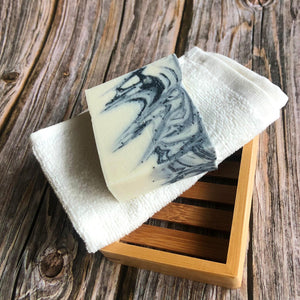 Natural Bar Soap with Flannel & Soap Rack - Mad About Nature