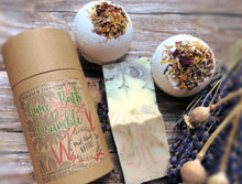 Load image into Gallery viewer, Bath Crumble Pamper Gift Box with Handmade All Natural Soap & Bath Bombs - Mad About Nature