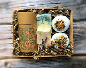 Bath Crumble Pamper Gift Box with Handmade All Natural Soap & Bath Bombs - Mad About Nature