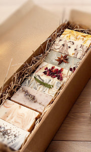 Handmade Luxury Soap Selection Gift Box. All natural, vegan & vegetarian friendly. - Mad About Nature