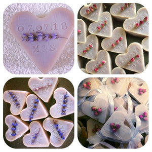 25 Personalised luxury handmade heart soap wedding favours. Baby shower, bridal shower, gifts, gifts for guests. - Madaboutnature