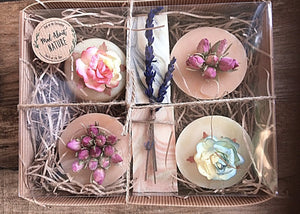 Beautiful selection of hand decorated soaps - Madaboutnature