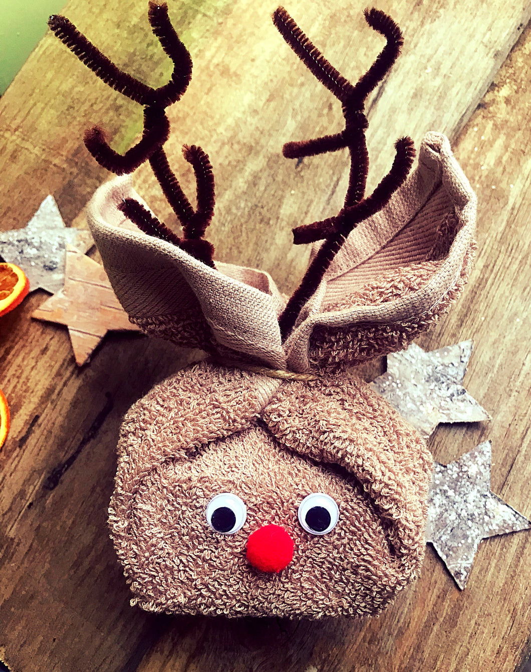 Christmas Reindeer - Soap & Flannel GIft - Madaboutnature