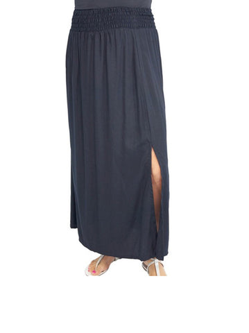 Sundrenched Amber Rayon Skirt Plain