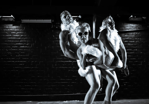 Lara Chisholm, Harry McNaughton, and Chris Parker in Mia Blonde by Dynamotion