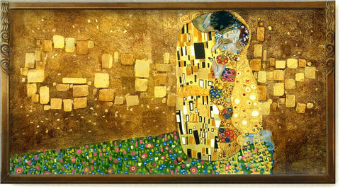google doodle from Klimt's The Kiss 2012