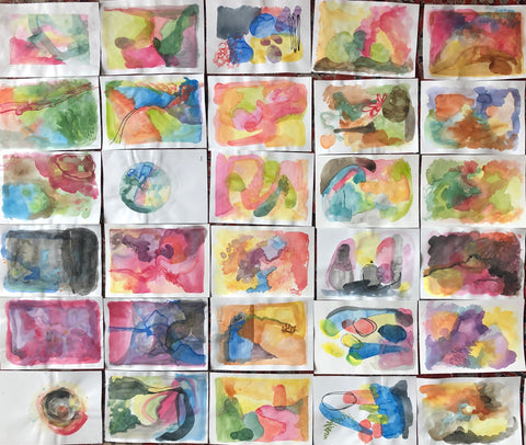 Amanda Billing's 2020 100 Day Project - the raw paintings