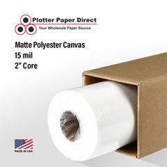 "2 ROLL PACK of 36"" x 75' Roll - Matte Polyester Canvas - 2"" Core"