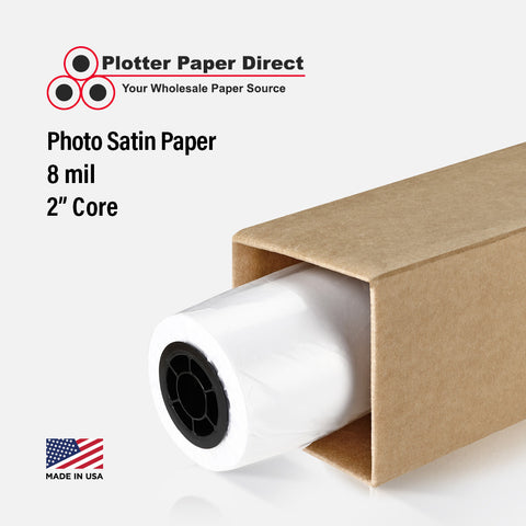 "(1) 54"" x 100' Roll - Photo Satin Paper - 2"" Core"