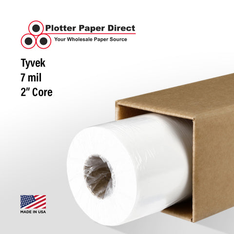 "(1) 36"" x 100' Roll - 7 mil Tyvek - 2"" Core"