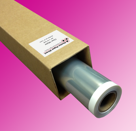 "(1) 60"" x 75' Roll - Inkjet Clear Film - 2"" Core"