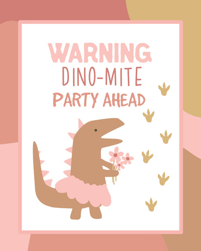 Dinosaur Party Pack -pink