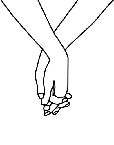 Holding Hands in Love Unity print