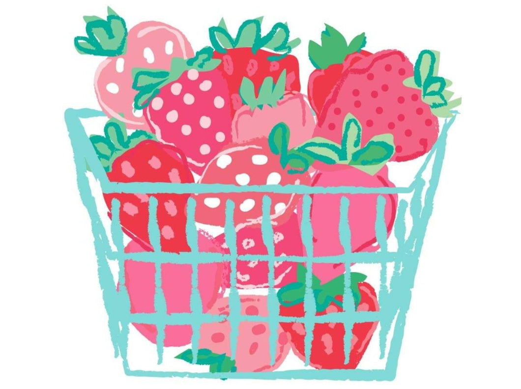 Basket of Strawberries wall art