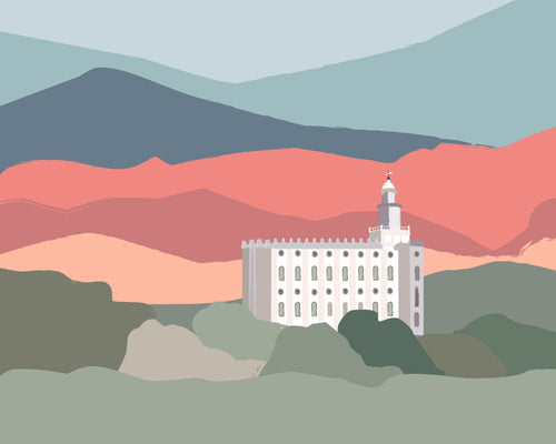 St George Utah LDS Temple wall art