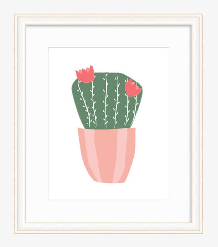 Cactus Flower Wall Art Collection - pastel