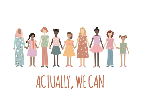 Actually We Can - Girl Power wall art