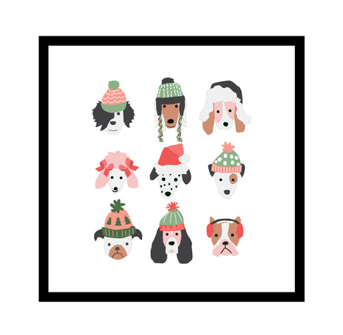 Puppy Dogs in Hats group wall art