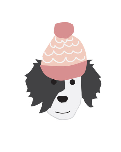 Cute Puppy Dogs in Hats for Wall and Party Decor