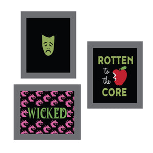 Wicked Rotten to the Core Party Posters