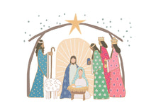 Load image into Gallery viewer, He is the Gift, Christmas Nativity Art -  digital download
