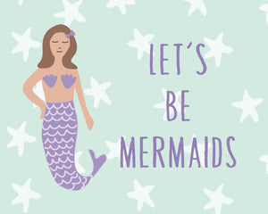 Mermaid Decor and Birthday Party Posters