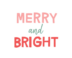 Merry and Bright Holiday Christmas Trees and Word Art Collection