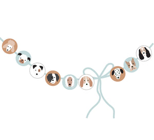 Puppy Dog Birthday Party Circles for Banner and Straw Tags - Blue