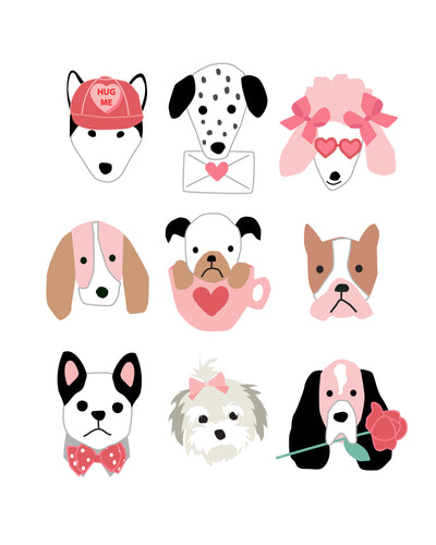 Valentine Puppy Dogs for Wall and Party Decor