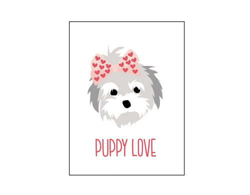 Simple Puppy Valentines Cards