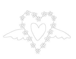 Happy Hearts Wall Art and Coloring Pages