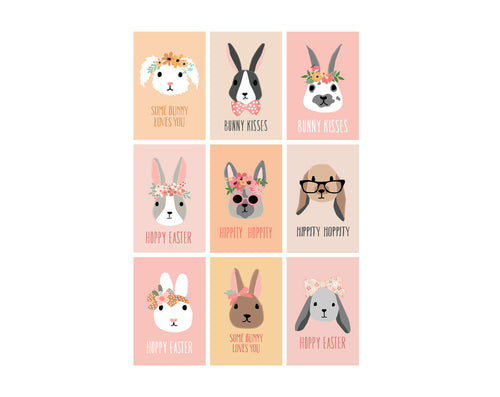 Bunny Rabbit Easter Tags and Cards