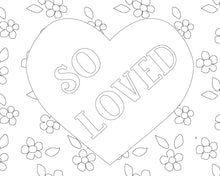 Load image into Gallery viewer, Happy Hearts Wall Art and Coloring Pages