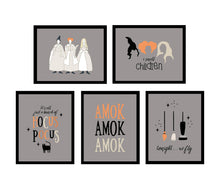 Load image into Gallery viewer, All the Hocus Pocus Halloween Wall Art Posters - gray