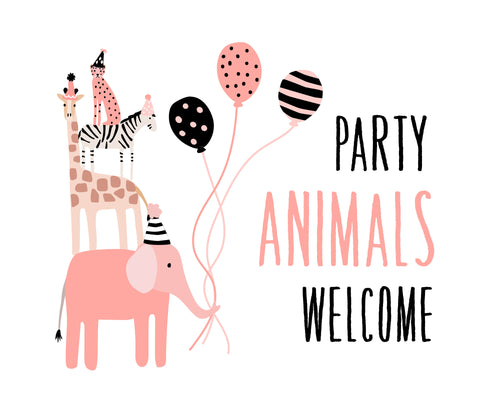 Wild Animals Party Pack - pink