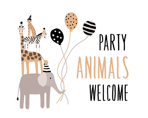Wild Animals Party Pack - tan