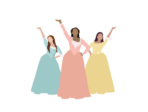 Schuyler Sisters from Hamilton - posters and cards