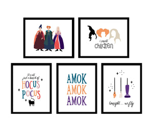 All the Hocus Pocus Halloween Wall Art Posters