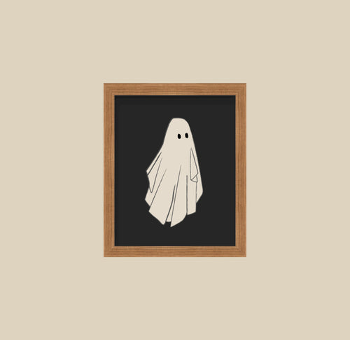 Vintage Halloween Illustration Posters Ghosts