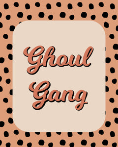 Ghoul Gang Word Art Decor Wall Posters