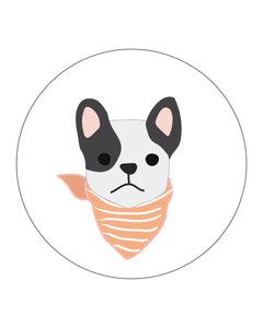 Halloween Puppy Dog circles for banners, tags, decor