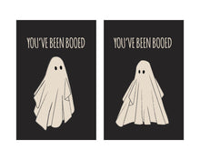 Load image into Gallery viewer, Vintage Halloween You've been Booed Cards and Tags