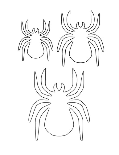 Spider Pattern for Halloween Wall Decor