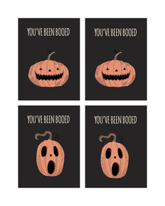 Vintage Halloween You've been Booed Cards and Tags