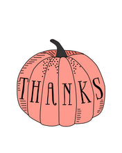 Load image into Gallery viewer, Give Thanks Thanksgiving Pumpkin Illustrations