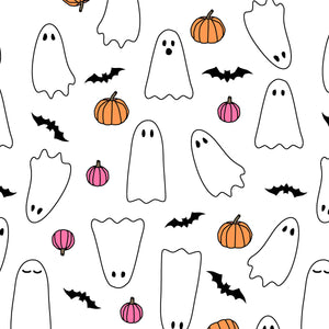 Spooky Season Halloween Wall art and Ghost Pattern