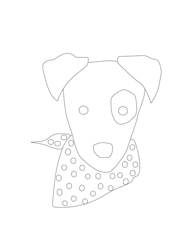 Halloween Puppy Dog Faces Coloring Pages