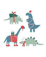 Load image into Gallery viewer, Christmas Dinosaurs - Blue